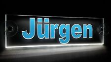 Trucker Namensschild LKW,LED beleuchtet, super Effekt, Jürgen oder Wunschname