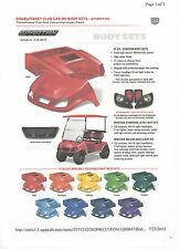 "Club Car DS SPARTAN Body Set w/ Matching 60"" Top & Standard Headlight Kit"