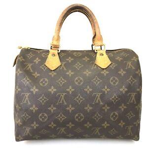 100% Authentic Louis Vuitton Speedy 30 Boston Bag M41526 Used 1105-5-e