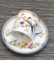 Aynsley Japanese Exotic Bird Small Coffe Cup & Saucer