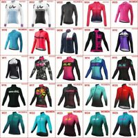 2020 Women Cycling jersey long sleeve bicycle shirt bike uniform racing Tops A58