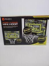 AND1 Indoor Basketball Hoop 18x12 Mini Basketball Hoop Over the Door Camo Board