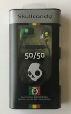 Skullcandy 50/50 Earbuds in Rasta with In-Line Mic and Volume/Track Controls