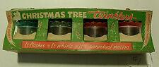 Vintage Christmas Tree Twinklers Birdcage Spinners Original Boxes Of 4