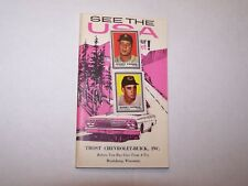 Vtg 1962 Chevrolet brochure See The USA Trost Reedsburg WI 2 baseball stickers