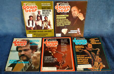DOWNBEAT - (5) ISSUES  - 1978 / 79 - TYNER, MINGUS, ABERCROMBIE,MULLIGAN,GRIFFIN