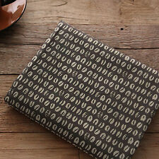 """Cotton Fabric Coffee Bean Stamp Pattern by the yards 44"""" Cozy  Coffee Bean Stamp"""