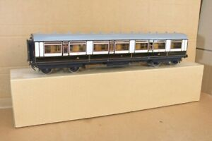GAUGE 1 SCALE KIT BUILT BRASS WOOD LNWR 1st CLASS MAINLINE COACH Coach 4650 oc