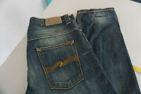 NUDIE JEANS CO Damen Jeans Hose 30/32 W30 L32 stonewash used darkblue TOP #38