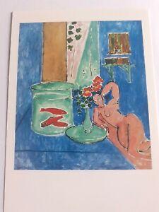 """Postcard Art Museum of Modern Art NY Henri Matisse """"Goldfish & Sculpture"""" 1912"""