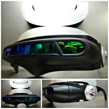 7f1d844b5c SPACE ROBOT ALIEN PARTY COSTUME CYCLOPS FUTURISTIC WRAP SHIELD SUN GLASSES  Black