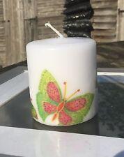 Gioiello farfalle (cotone fresco profumo) HAND Decorated pilastro candela