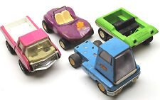 4 pc 1970's Tonka Pressed Steel Lot Pickup+Semi Truck+Dune Buggy+ATV Nice Parts!