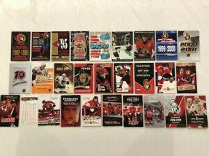 Lot of all 28 Ottawa Senators pocket schedules for sale