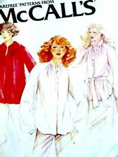 VINTAGE 70s MCCALL'S RAGLAN BLOUSES, SILK TOPS Misses Sewing Pattern 6347 12