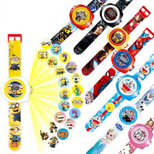 TV Movie Game Cartoon Doll Figures Projection Wrist Watch Kids Boy Girl Toy Gift