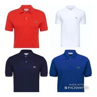 Lacoste Men's Polo Classic Fit L1212  Small S Black Navy White Red Blue