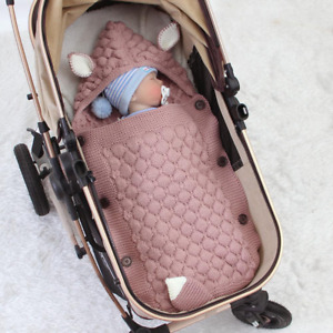 Baby Knitted Sleeping Bag Blanket for Pram or Stroller