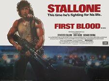 "FIRST BLOOD repro UK cinema quad poster 30x40"" Sylvester Stallone Richard Crenna"