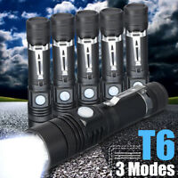 30000LM Mini T6 LED Flashlight Zoom 3-Modes Rechargeable Torch 18650 Lamp Light