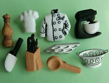 Master chef cuisine cuisinier plaque de cuisson gâteau mélangeur cuisine dress it up craft bouton