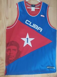 AND1 Vintage 90s Cuba Che Guevara Stitched Basketball Jersey Number 1