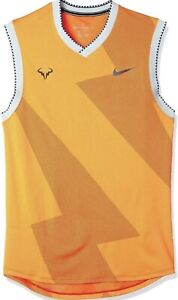 Nike NikeCourt Aeroreact Rafa Sleeveless Shirt Top BV1099-845 Men's Size Large L