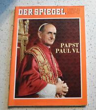 Der Spiegel 22.Dezember 1965 #52 Papst Pius VI.