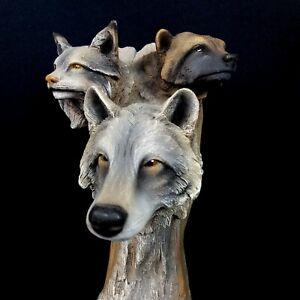 Neil J Rose Wilderness Marauders Limited Edition Sculpture Wolf Wolverine Bobcat