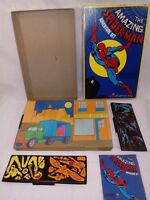 1974 Colorforms NO  591 The Amazing Spider-Man Adventure set.NEAR MINT COMPLETE