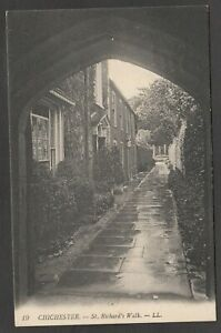 Postcard Chichester Sussex the St Richard's Walk by Levy LL 19