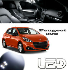 Peugeot 208 Kit 8 Ampoules LED Blanc Pare soleil Boîtes à gants Coffre Sol Tapis