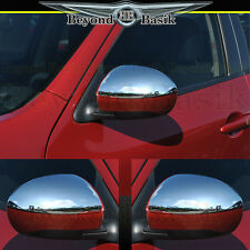 Fits 2011-2014 NISSAN JUKE TOP HALF Chrome Mirror Covers Trim Overlays L/R Set