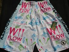 Nwt Flow Society Youth Xl White Wii Flow Lacrosse Shorts Pa39Mp170 New