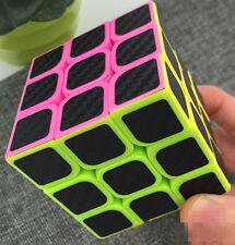 Speed Magic Cube 3x3x3 Ultra-smooth Carbon Fiber Sticker Rubik Puzzle Twist NEW