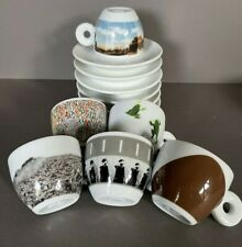 New listing 2001 Illy Espresso Ps1 Set of 6 Coffee cups & saucers - Wtc 9/11 memory New