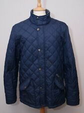 "Boden men's warm navy blue quilt padded country outdoor jacket coat L 42"" 107cm"