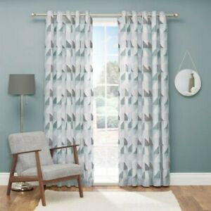 Julian Charles Delta Curtains in Duck Egg