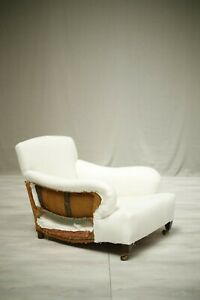 Howard and sons style early 20th century deep seated armchair