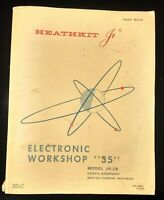 "HEATHKIT Jr. ELECTRONIC WORKSHOP ""35"" MANUAL 1969 MODEL JK-18 PRE-OWNED"
