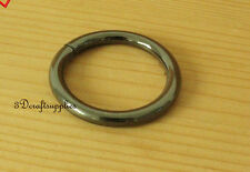 metal O rings O-ring purse ring connector gunmetal 32 mm 1 1/4 inch 10pcs U112