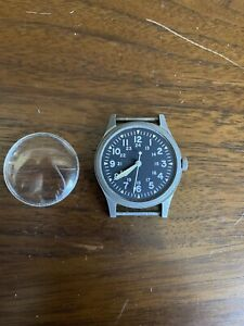 Vintage Hamilton Stainless Steel GG-W-113 Watch For Parts Or Repair
