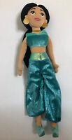 "Aladdin Princess Jasmine  21"" Plush Doll Disney Store Floral Dress Stuffed"
