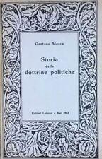 MOSCA GAETANO Storia delle dottrine politiche.