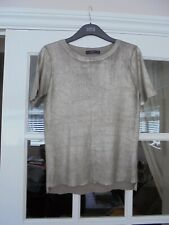 GIRLS GOLD METALIC TOP BY ZARA.. SIZE . CHEST IS 34 inches. SIZE S.