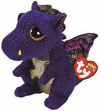 Ty Beanie Babies Boos 36879 Saffire the Blue Dragon Boo