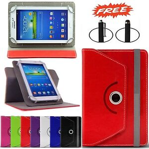 """360° Rotating Leather Case Cover Stand For 7"""" Inch Samsung Galaxy Tab 4 Free Pen"""