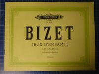 Bizet Jeux d'Enfants Edition Peters Nr.9008 H11067