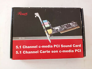 Rosewill 5.1 Channel C Media PCI Sound Card RC-701 3D Audio Card