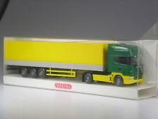 TOP: Wiking Scania 144 Pritschensattelzug gelb-grün in OVP